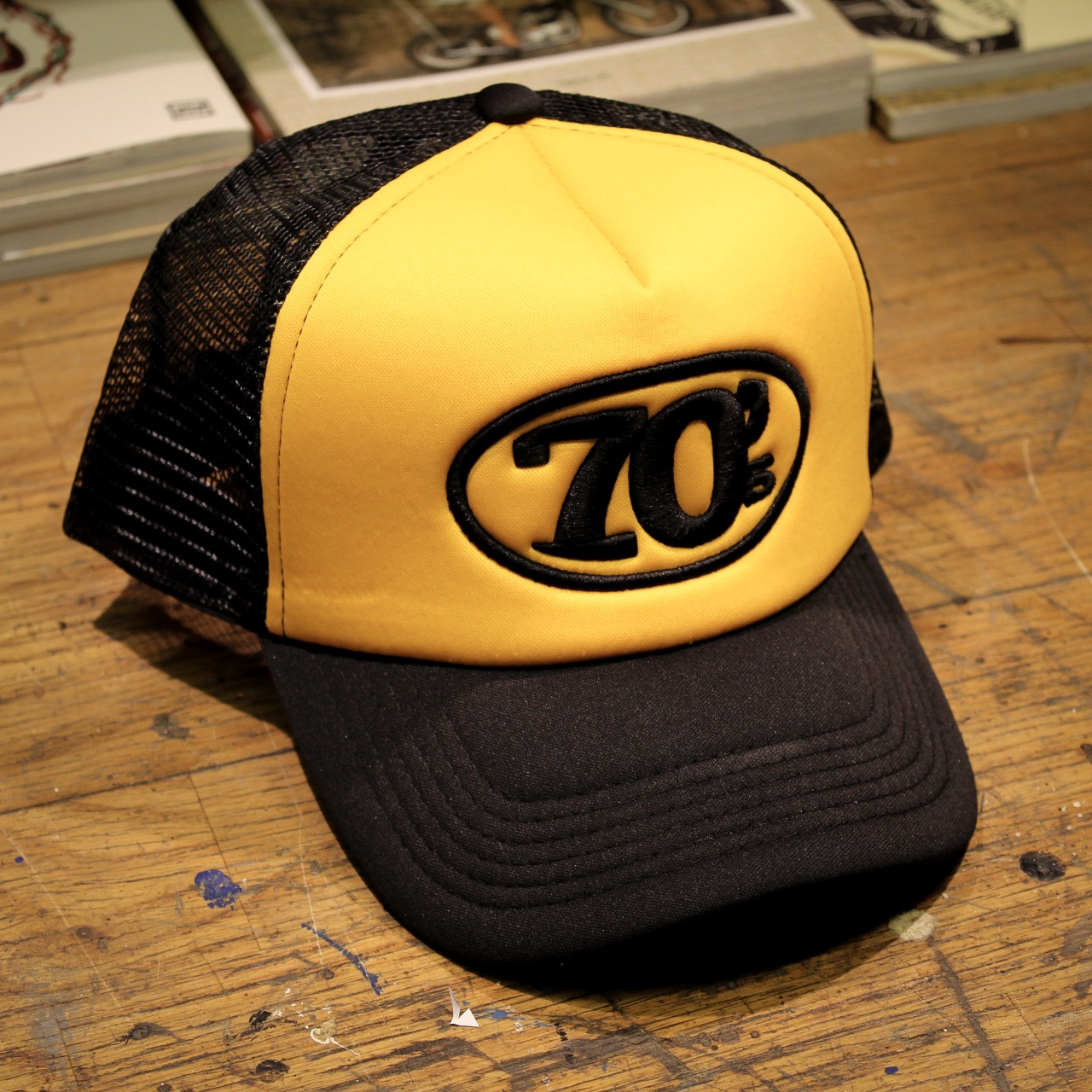 70 s Trucker Cap - Yellow   Black  a776a27fc8f