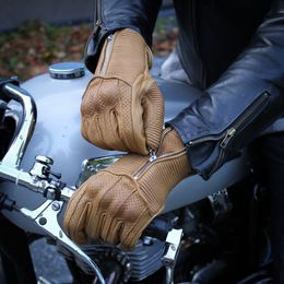 Armoured motorcycle gloves with knucle armor