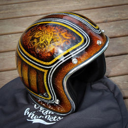 "70's Helmets ""Copper Flowers"" Superflake"