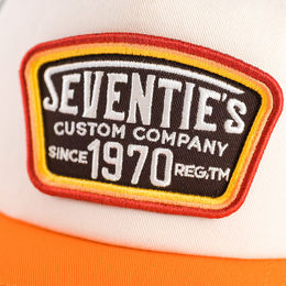 "70's ""Custom Company"" embroidered patch"