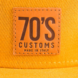 Leather 70's logo tab