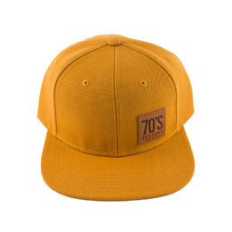 Yellow 70's Snap back cap