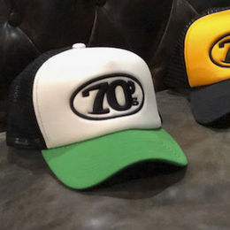 70's Trucker Cap -  White and Green