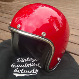Open faced helmet, Red Pastello