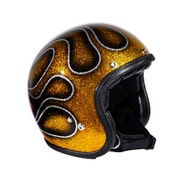 "70's Helmets ""Gold Flames"" Superflake"