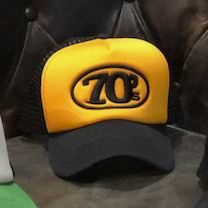70's Trucker Cap -  Yellow & Black