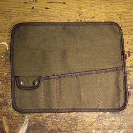 Ton-up Gear Canvas tool roll open