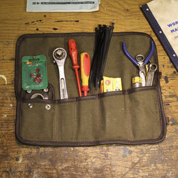 Ton-up Gear TR1 tool roll with tools