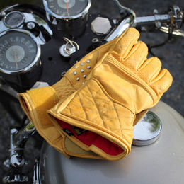 Flat tracker racing gloves