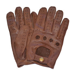 Leather driving gloves, Brown