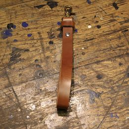 Leather glove strap