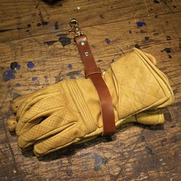 Leather glove strap & flat trackers