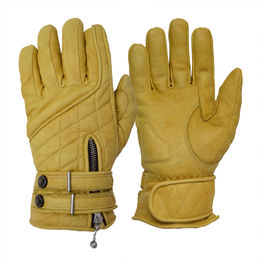 Goldtop Café Racer gloves. Waxed tan
