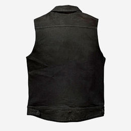 SA1NT denim vest - Black