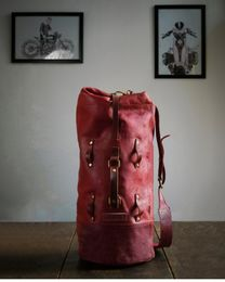 Military duffel - Cherry Red