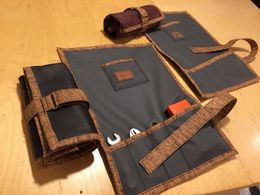 All leather tool roll, hand made by Liituraita