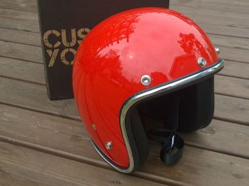 70's Helmets, Orange Pastello