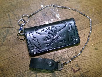 "Anvil Long Biker wallet, ""Tequila Skull"""