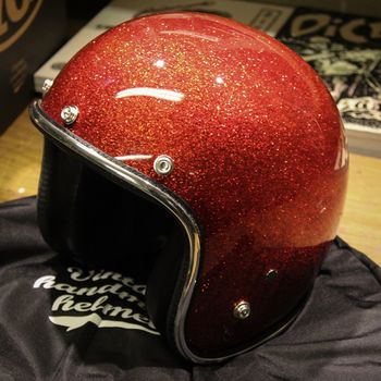 70's Helmets, Fire Red metalflake