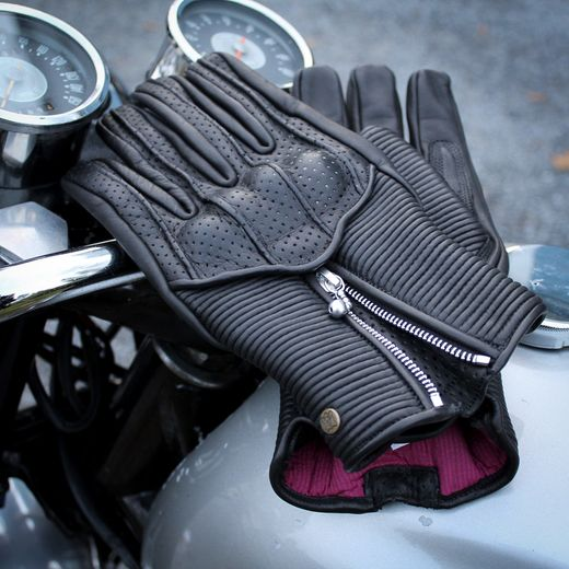 The Silk lined Goldtop Raptor motogloves