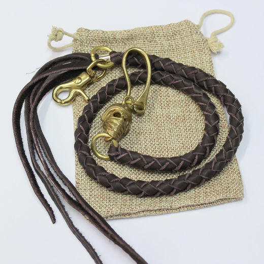 Dark Brown leather braid