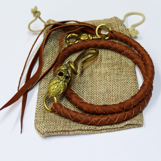 Light Brown leather braid for wallet