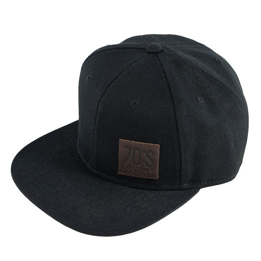70's Snap6 cap, Black