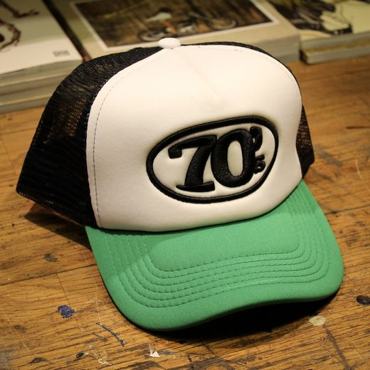 70's Trucker Cap, White/Green