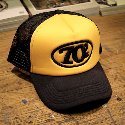 70's Trucker Cap, Yellow/Black
