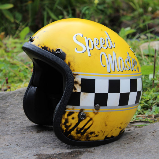 Dirty Speed Master open faced helmet