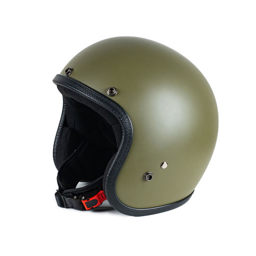 Mat Olive open faced helmet
