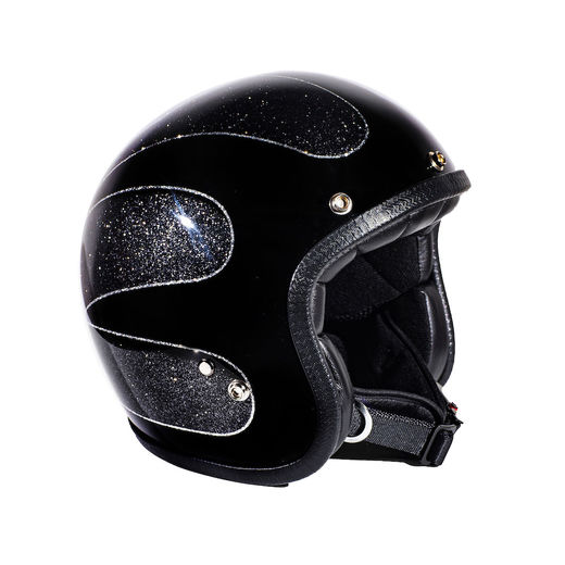 70's Helmets Black Scallops Superflake