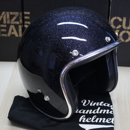Black flake helmet
