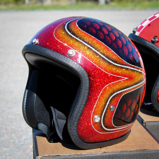 Red fish scales Superflake helmet