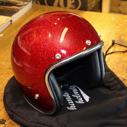 70's Helmets red metalflake