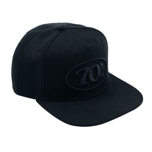 70's snap back, total black