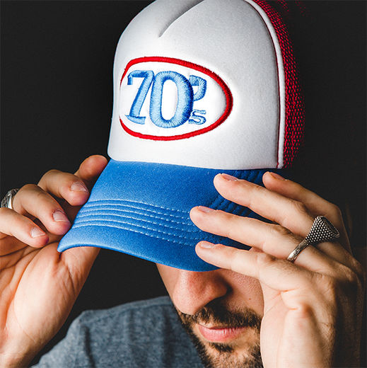 70's Trucker Cap / Red, White, Blue