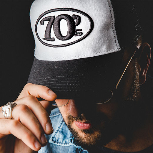 70's Trucker Cap / Black & White
