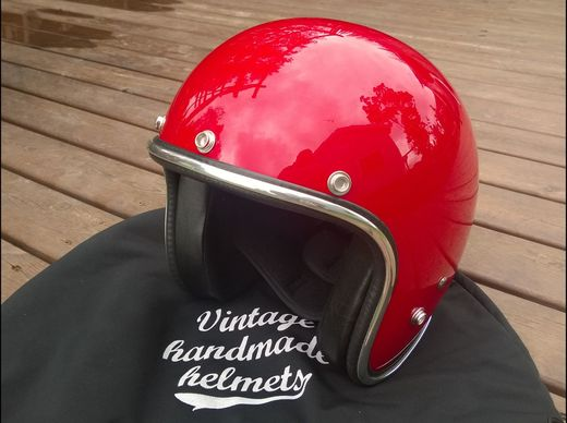 70's Pastello open faced helmet, red