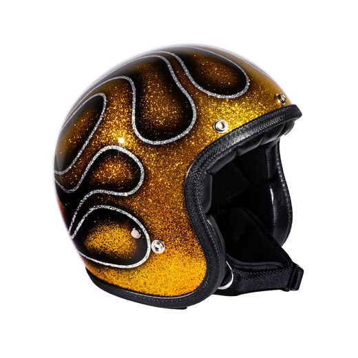 "Copy of 70's Helmets ""Gold Flames"" Superflake"