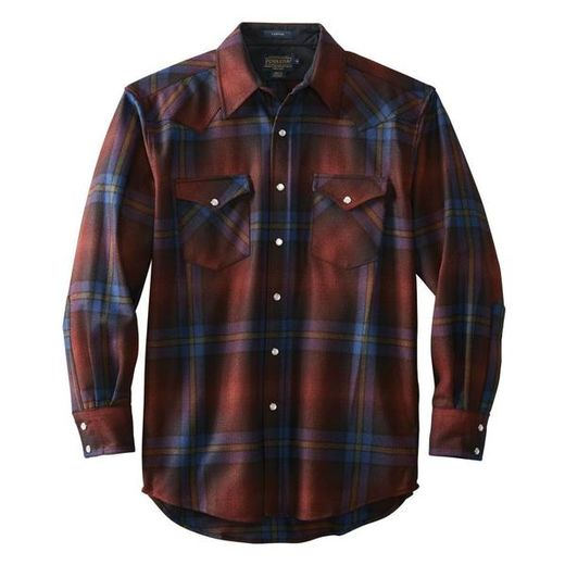 Pendleton Canyon Shirt - Maroon / Green Ombre