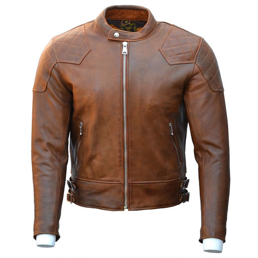 Goldtop '76 Caf'e racer Jacket - Brown