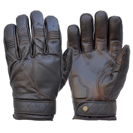 Short Bobber gloves, Oiled Cognac
