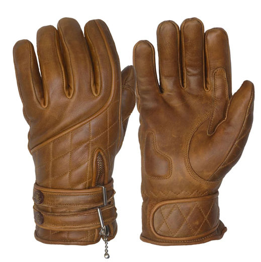 Café Racer gloves, Waxed Brown