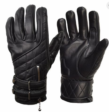 The Quilted Cafe Racer Gloves
