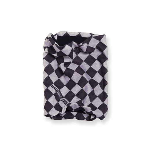 Checkered flag tube scarf with fleece