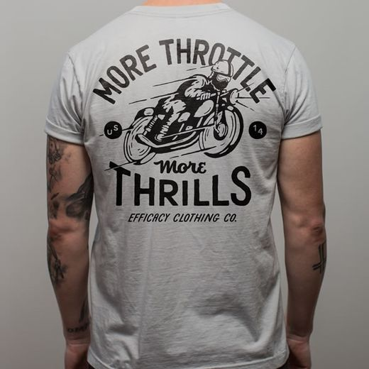 Light grey T-shirt with cafe racer print