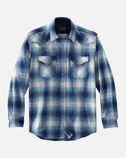 Pendleton Canyon Blue/Navy Ombre Plaid