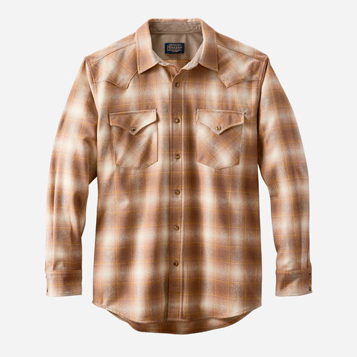 Pendleton Canyon Shirt - Taupe/Gold Ombre 1981
