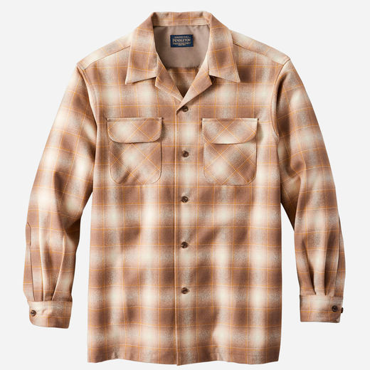 Pendleton Board Shirt - Taupe/Gold Ombre